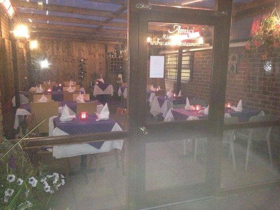 Amici's conservatory area