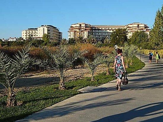 Nova Park Hotel: Zicht vanaf het strand