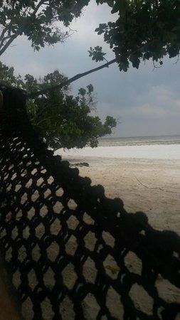 Ras Michamvi Beach Resort : Hängematte am private beach