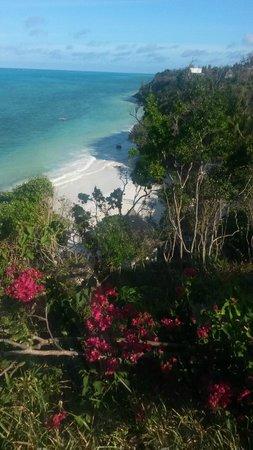 Ras Michamvi Beach Resort : Blick vom Restaurant auf die Bucht