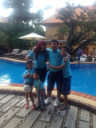 Palm House Boutique & Spa: My family !