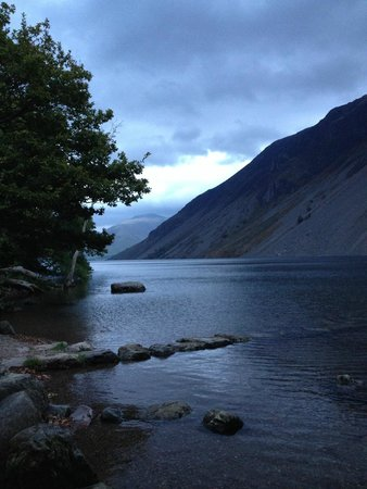 YHA Wasdale Hall: View of Wastwater from the shore at the foot of Wasdale Hall