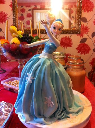 Frozen Elsa Birthday Cake Picture of Old Swan Tea Rooms Rhayader