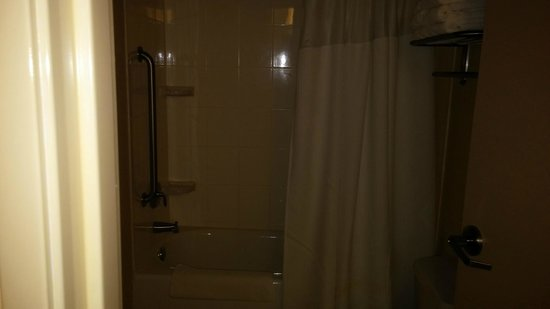SpringHill Suites Tampa Brandon: Shower curtain in Room 106 -Spring hill Suites on october 5 2014
