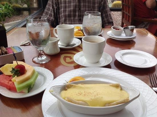 "Lodge at Ventana Canyon: My breakfast ""Artichoke Crepe""."