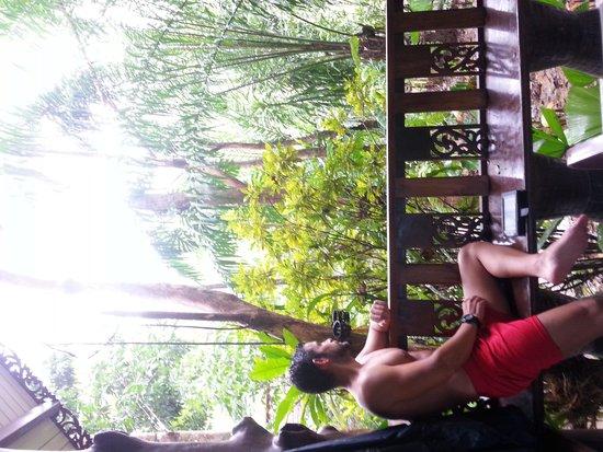 Khao Sok Las Orquideas Resort: Balcón privado
