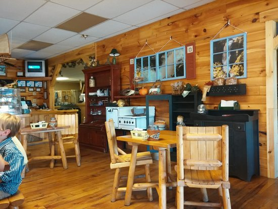 like new log cabin style interior picture of headed north grill
