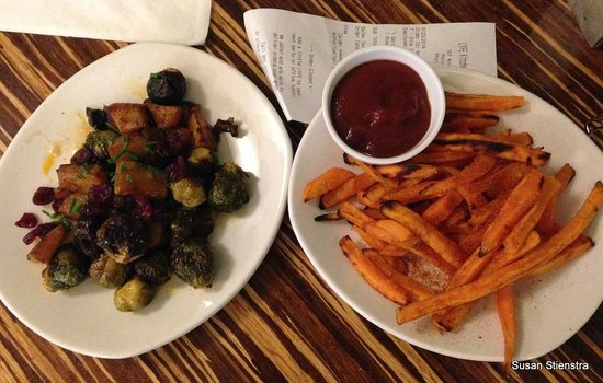 Roasted Brussels and Baked Sweet Potato Fries - Picture of LYFE ...