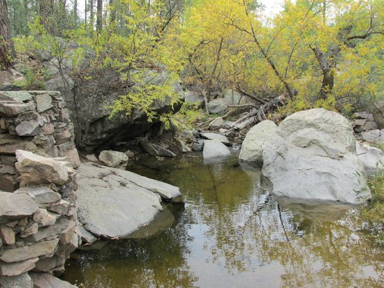 Prescott National Forest: creek alongside the trail in this loop