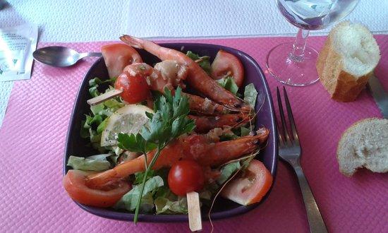 L'Angelus: Salade de gambas et crevettes