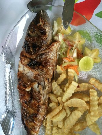 Le Reduit Restaurant : Kreolischer Fisch