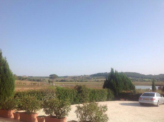 Castiglione della Valle, Italien: Uitkijk aan de voorkant