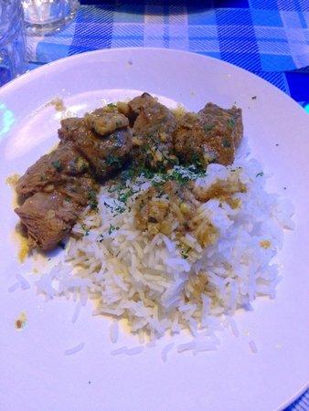 The Boozer Cafè: Bocconcini di vitello al curry con riso basmati