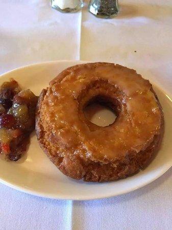 Bradley 's Bistro: doughnut with cranberry chutney