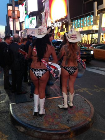Times Square: Nude cow girls