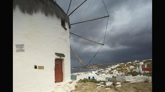 Agricultural Museum and Boni Windmill: Stormy Day from Bonis windmill