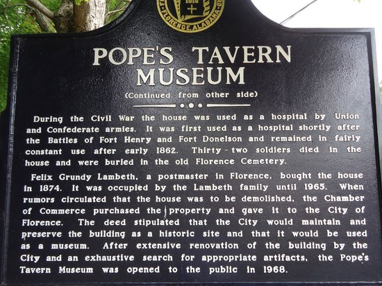 Pope's Tavern: Historical Marker side 2