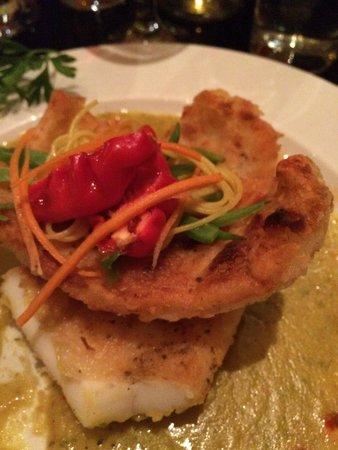 Monsoon : Grilled calamari in spice sauce.