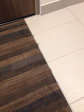 Courtyard Knoxville West/Bearden: Ugh oh, frayed carpeting in a new hotel?!