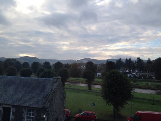 Tontine Hotel Peebles Scottish Borders: Room with a view
