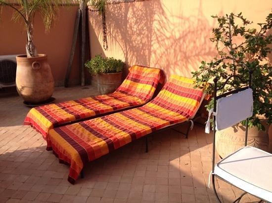 Riad Ma'ab: terrace lounge