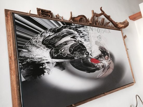 Arte Luise Kunsthotel: Il quadro sopra al letto