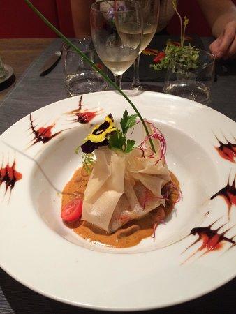 L'Agapée: Ballottine d'écrevisse sauce crustacé