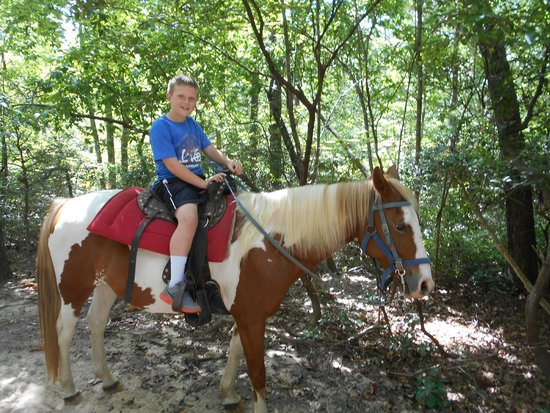 Riverside Riding Stables : First time ride for grandson