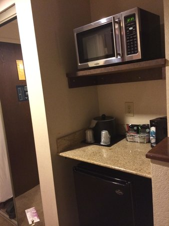 Comfort Suites Perimeter Center: Microwave and Refrigerator.