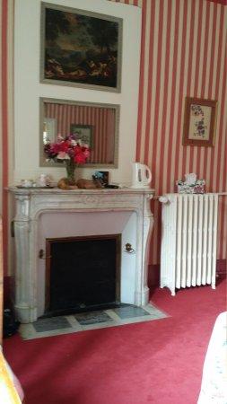 Chateau de la Barre : mantel in our bedroom
