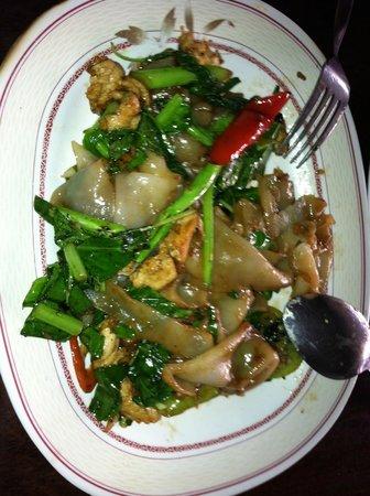Suda Restaurant: pad kee mao ( drunken noodle chicken)
