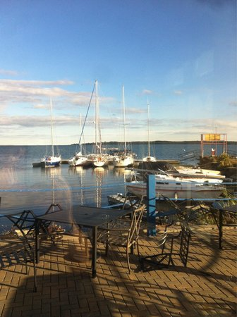 Harbourview Marina & Cafe: View from corner table through window.