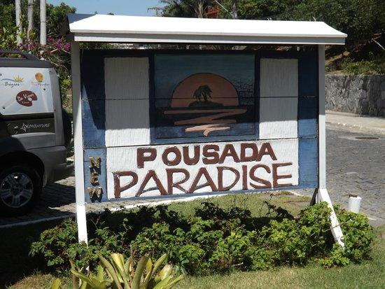 Pousada New Paradise: cartel entrada