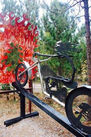 Lakenenland Sculpture Park: several sculptures make this a good Halloween roadside stop