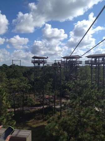 The takeoff towers for the several adventures at Forever Florida.