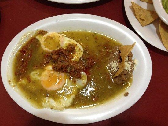 Huevos Rancheros with chorizo - Picture of Cafe El Popular, Mexico ...