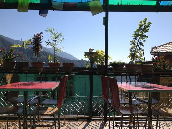 Green Hotel: View from restaurant terrace