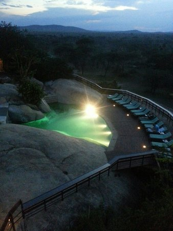 Seronera Wildlife Lodge: veiw of pool seringet at dusk