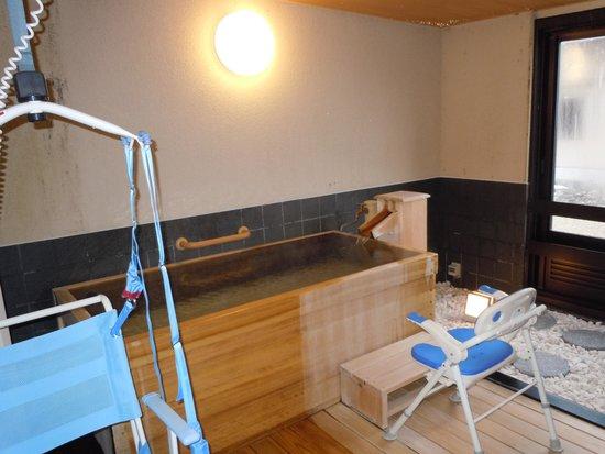 Hotel Mori no Kaze Ousyuku: 客室の介護リフト付温泉