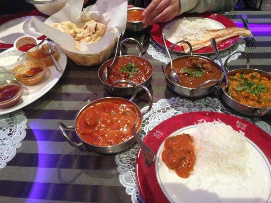 Indian Star Tandoori Restaurant: Banquet dishes