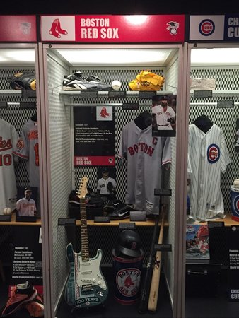 National Baseball Hall Of Fame And Museum Red Sox Locker In The