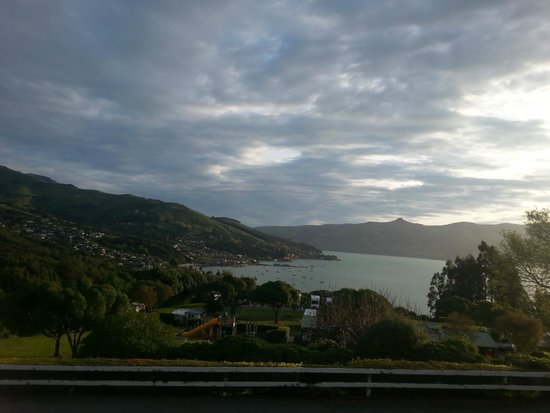 Akaroa TOP 10 Holiday Park: view from camp TV room