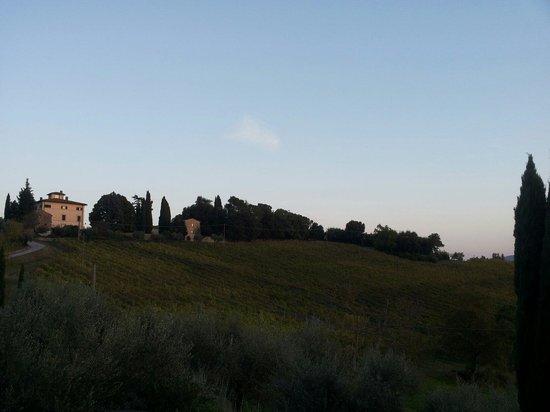 Villa di Monte Solare: La villa e il paesaggio intorno