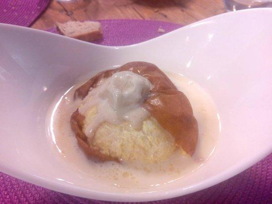 El huerto de Roque: manzana asada con helado