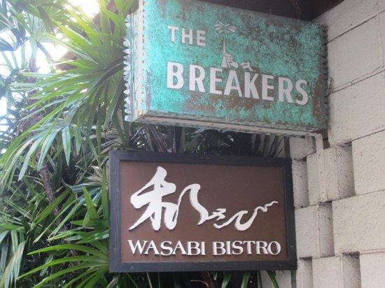 Wasabi Bistro: 看板