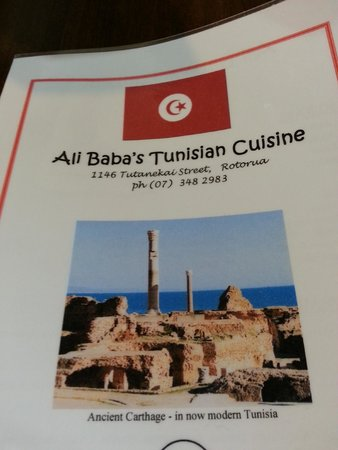 Ali Baba's Tunisian Takeaways: Menu
