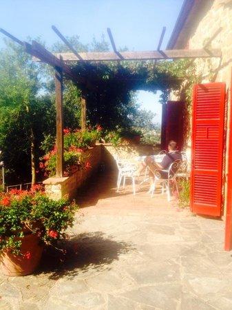 Azienda Fontelunga: villa porch