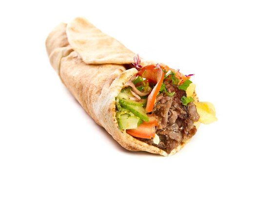 Hot Turkish Wrap With Charcoal Grilled Lamb Kebab Picture Of Pera Turkish Mangal Meze Bar Edinburgh Tripadvisor
