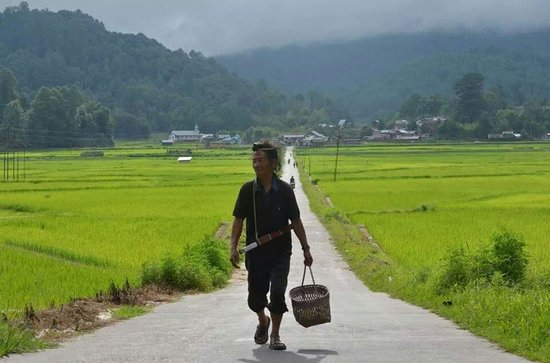 Ziro, อินเดีย: Daily Routine Work of Apatani male folk