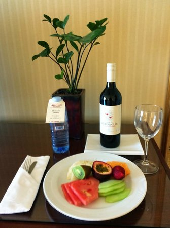 Brisbane Marriott Hotel: Welcome Gifts for Loyalty Club Member